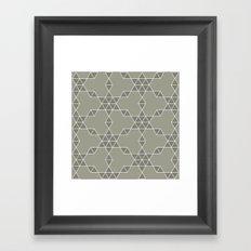 Warm gray hexagon pattern Framed Art Print