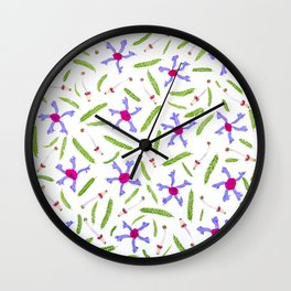 Leaves and flowers pattern (25) Wall Clock