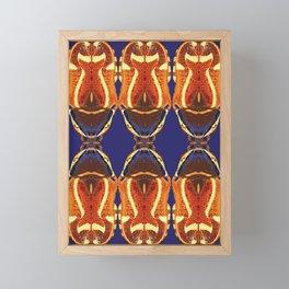 Fiddler beetle on Blue by Chrissy Wild Framed Mini Art Print