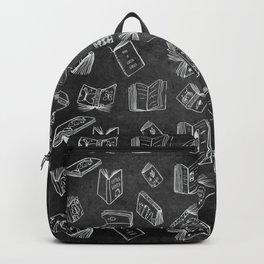 Classic Books - Pattern (Black) Backpack