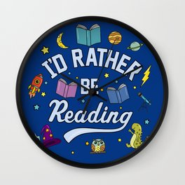 I'd Rather Be Reading Science And Magic Edition Wall Clock