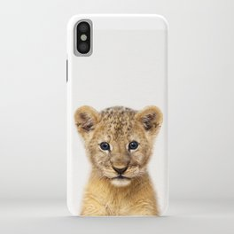 Baby Lion, Baby Animals Art Print By Synplus iPhone Case