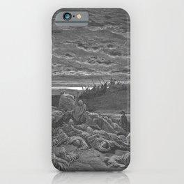 Gustave Doré - La Grande Bible de Tours (1866) 056 Death of the Sons of Gideon (Judges 9:5) iPhone Case