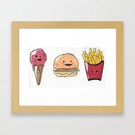 All the Food Cuties Framed Art Print