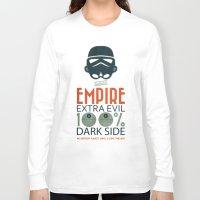 propaganda Long Sleeve T-shirts featuring Star Wars Empire Propaganda by Costantino Gallo