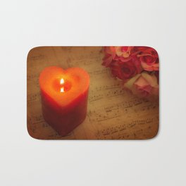 Embedded Within My Heart Bath Mat