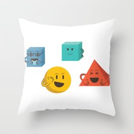 Books Are For Squares Throw Pillow