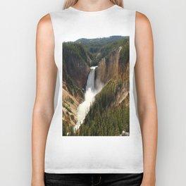 Majestic Upper Falls - Yellowstone Valley Biker Tank