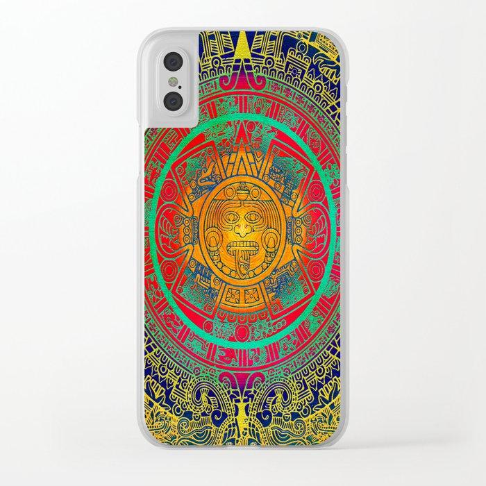 Aztec Sun God Clear Iphone Case By Klaraacel Society6