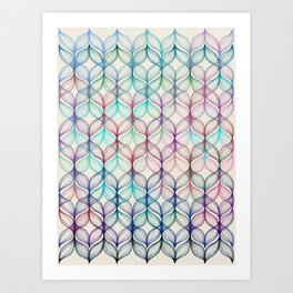 Mermaid's Braids - a colored pencil pattern Art Print