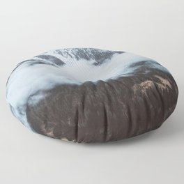 On a cloudy day - Landscape and Nature Photography Floor Pillow