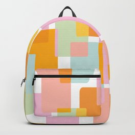 Pastel Geometric Shape Collage Backpack