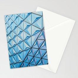 Light Blue Geometric Pattern Stationery Cards