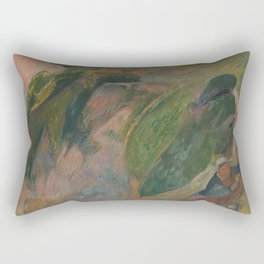 The Flageolet Player on the Cliff Rectangular Pillow