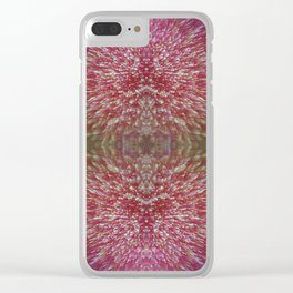 Floral Shimmer Bloom Clear iPhone Case