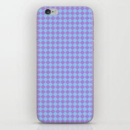 Lavender Violet and Baby Blue Diamonds iPhone Skin