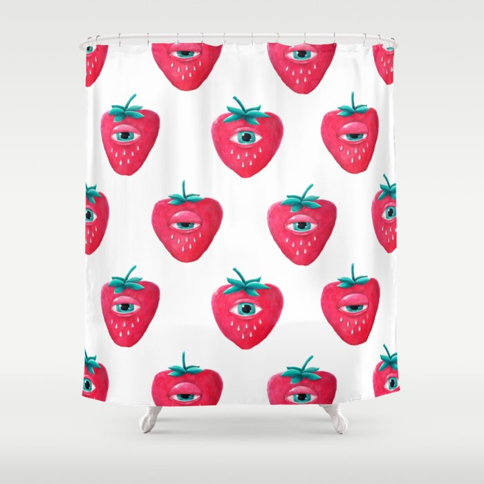 Cry Berry Pattern Shower Curtain
