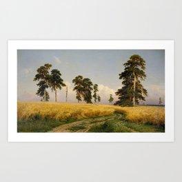Rye by Ivan Shishkin Art Print