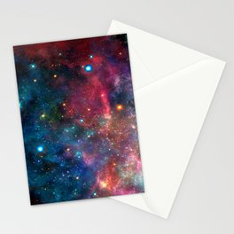 Cosmic Connection, Galaxy, Space, Nebula, Stars, Planet, Universe, Stationery Cards