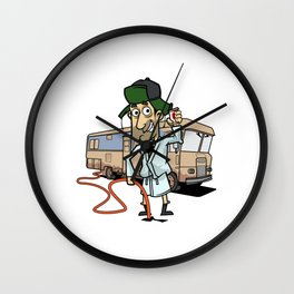 Camping Gift Camp RV Camper Home Is Where You Park It Print Wall Clock