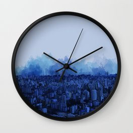 Sampa Blue Wall Clock