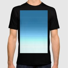 Sea blue Ombre Black MEDIUM Mens Fitted Tee
