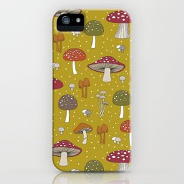 Funghi - Gold iPhone Case