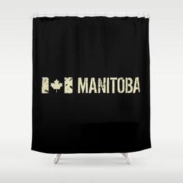 Canadian Flag: Manitoba Shower Curtain