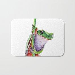 frog on a dandelion Bath Mat