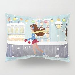 Ice Skating Girl Pillow Sham