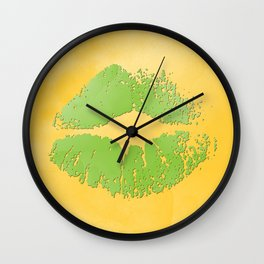 dp048-2 Watercolor kiss Wall Clock