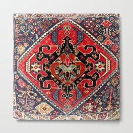 Qashqa'i Antique Fars Persian Bag Face Print Metal Print