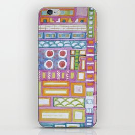 Filled Pink Grid iPhone Skin