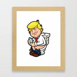 Toilet Donald Framed Art Print