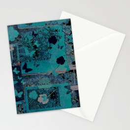 butterflies_I turquoise Stationery Cards