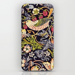 William Morris Strawberry Thief Art Nouveau Painting iPhone Skin