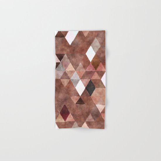 Retro Triangles Pattern 04 Hand & Bath Towel