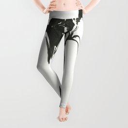 Dervish Whispers Minimalistic Line Drawing Leggings