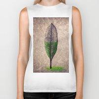 leaf Biker Tanks featuring Leaf by Werk of Art