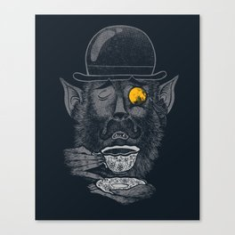 a british gentleman werewolf  Canvas Print