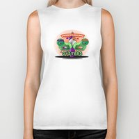 arsenal Biker Tanks featuring Oysters In A Halfshell by Chefleclef