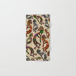Kokopelli Rainbow Colors on Tribal Pattern  Hand & Bath Towel