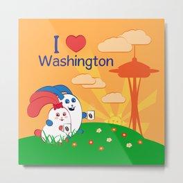 Ernest and Coraline | I love Washington Metal Print