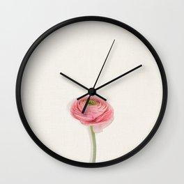 Single Ranunculus Wall Clock