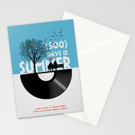 500 days of summer art Stationery Cards