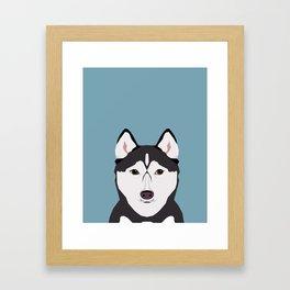 Shiloh - Husky Siberian Husky dog art phone case perfect gift for dog people Framed Art Print