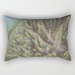 Forest Landscape Photography   Ariel View   Banff Gondola   Alberta   Canada Rectangular Pillow
