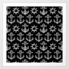 Sailors Pattern Art Print