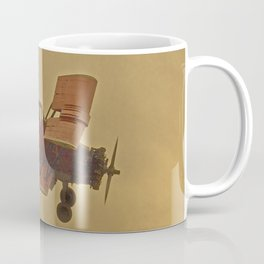 Crop Duster Flying In A Storm Coffee Mug