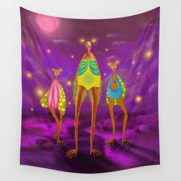 Purple moon Wall Tapestry